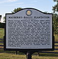 Williamson County Historical Marker - Mayberry-Bailey Plantation.JPG