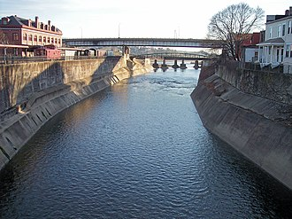 Wills Creek (North Branch Potomac River tributary) - Wills Creek near its mouth in Cumberland in 2007