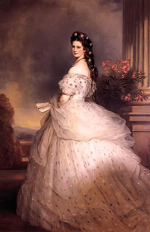 Empress Elisabeth of Austria - Portrait by Franz Xaver Winterhalter, 1865