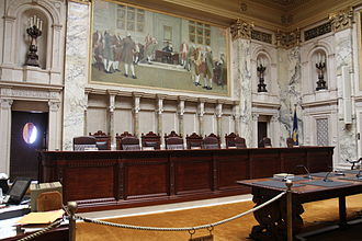Wisconsin Supreme Court - Interior of the Supreme Court room