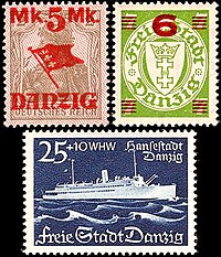 Postage stamps of the Free City of Gdańsk/Danzig, 1920-1939