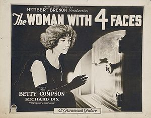 The Woman With Four Faces - Lobby card