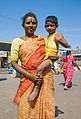 Woman and boy near City Market, Bangalore in May 2008.jpg