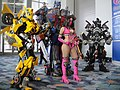 WonderCon 2012 - Mileena from Mortal Kombat surrounded by Autobots (7019458675).jpg