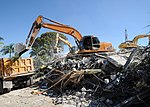 Workers remove debris from the Hotel Montana in Port-au-Prince, Haiti, 2010.jpg