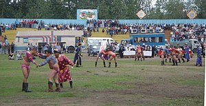 Tos-Bulak - Khuresh competition at the Naadym festival of 2005