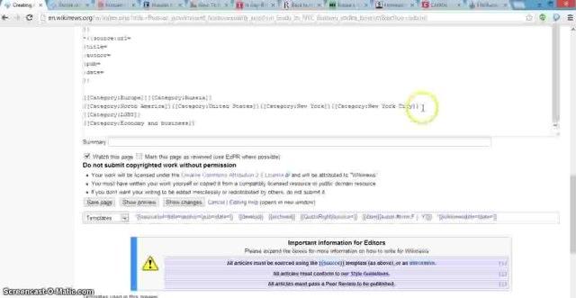 Wikinews/How to write a Wikinews article