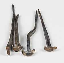 Wrought nails 17. century, Hofburg Vienna 5805.jpg
