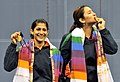 XIX Commonwealth Games-2010 Delhi (Women's Double Badminton) Jwala Gutta and Machimanda Ashwini Ponnappa of India won the Gold medal, at Siri fort Sports Complex, in New Delhi on October on October 14, 2010.jpg
