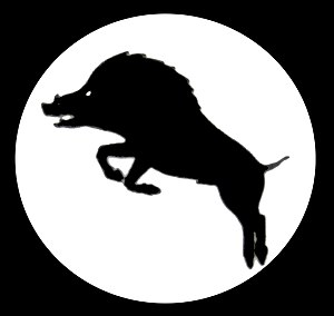 XXX Corps (United Kingdom) - The insignia of XXX Corps during the 1944–1945 Campaign; a rampant boar.