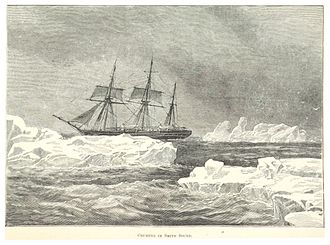 Jeannette Expedition - Pandora, cruising in Smith Sound during one her Arctic voyages under Allen Young