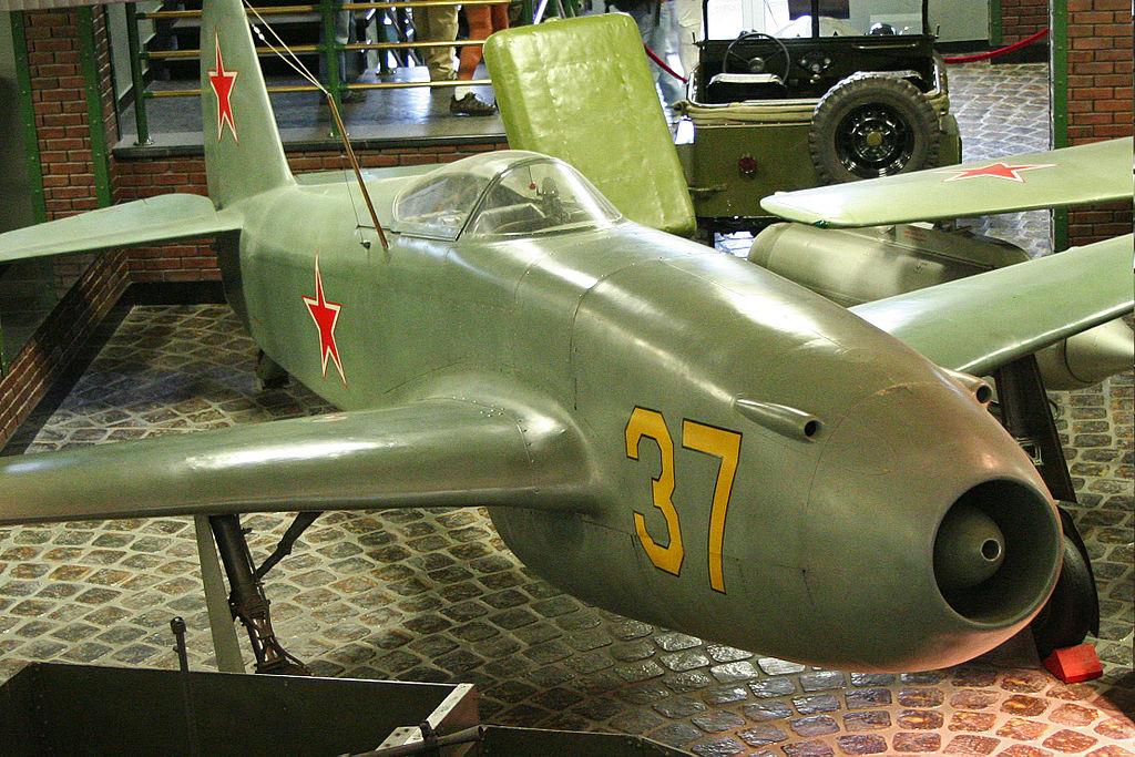Yakolev Yak-15 37 yellow (8454539446).jpg