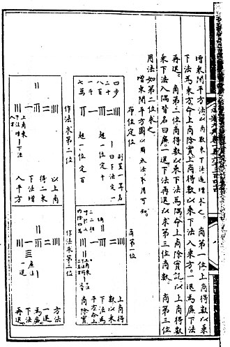 Rod calculus - Rod calculus facsimile from the Yongle encyclopedia
