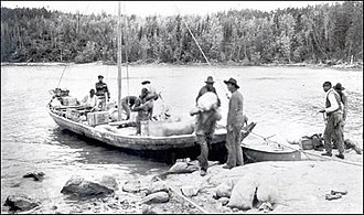 1825–1827 Mackenzie River expedition - A York boat similar to the vessels used during the expedition