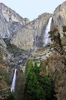 Yosemite Falls Tiered waterfall in Yosemite National Park, California