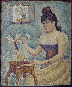 Young Woman Powdering Herself (Seurat) - Image: Young Woman Powdering Herself Georges Seurat