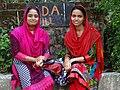 Young Women outside War Cemetery - Chittagong - Bangladesh (13102544454).jpg