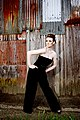 Young woman wearing a strapless jumpsuit - photograph by Liz Welsh 06.jpg