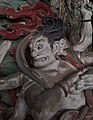 Yuan Dynasty (元) statue of Kundali (軍荼利明王; 军荼利明王; Juntuli Mingwang) one out of two Wisdom Kings, or vidyaraja (明王; Mingwang), in Fusheng Temple (福勝寺; 福胜寺), Yuncheng, Shanxi, China Picture 4.jpg