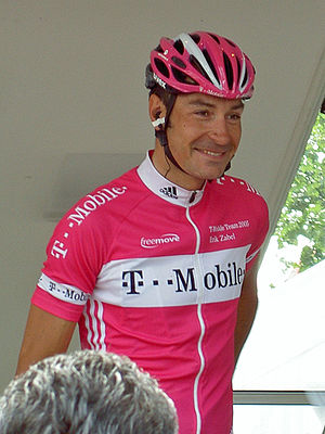Eschborn-Frankfurt – Rund um den Finanzplatz - Erik Zabel (pictured in 2005) has won the race three times (1999, 2002 and 2005), a record shared with Alexander Kristoff.