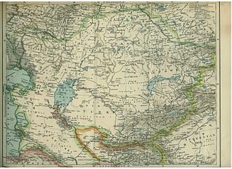 Khanate of Khiva - A 1903 Polish map showing Khiva (Chiwa, in Polish) within the much reduced borders the Khanate had during 1874-1920