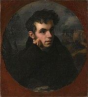 Πορτρέτο του Ζουκόφσκι από τον Ο. Κιπρέσνκι, που ο ποιητής χάρισε στον Πούσκιν με την ευκαιρία της έκδοσης της πρώτης συλλογής του δεύτερου