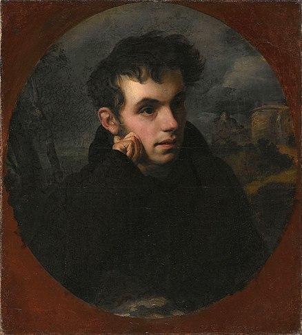 О.&nbsp;А.&nbsp;Кипренский. Портрет В.&nbsp;А.&nbsp;Жуковского, <i>1815, Третьяковская галерея</i>