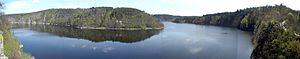 Orlík Dam - View from the Zvíkov Castle
