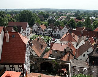 Zwingenberg, Hesse - Zwingenberg's Old Town with the Marketplace