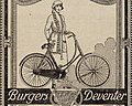 """Burgers Deventer"" women bicycle ad detail, from- H. Burgers (cropped).jpg"
