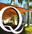 """Q"" bar is a popular gathering place at Raffles Landing Site. (434016183).jpg"