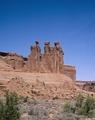 """Three Gossips"" formation, Arches National Park, Utah LCCN2011631045.tif"