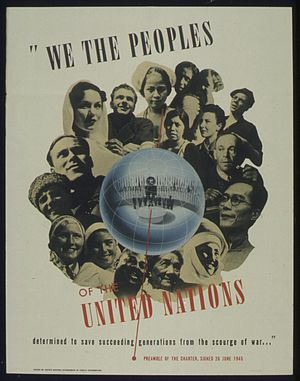 "United Nations Charter - Image: ""WE THE PEOPLES OF THE UNITED NATIONS"" NARA 516086"