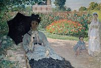 'Camille in the Garden with Jean and a Maid' by Claude Monet, 1873.jpg