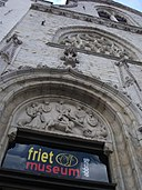 'Frietmuseum (Fries Museum) located in the Gothic Saaihalle (former Wool Hall) at Vlamingstraat 33' by Tania Dey