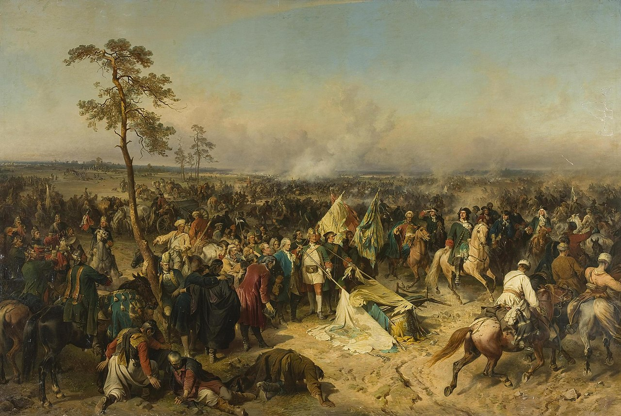 'Победа под Полтавой' Александра Евстафьевича Коцебу, 1862, Эрмитаж.JPG