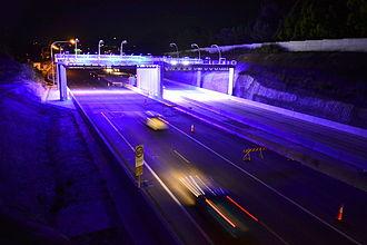M2 Hills Motorway - Toll gantries at Macquarie Park