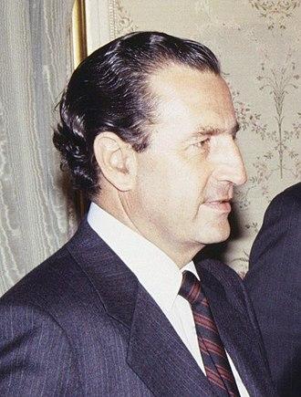 Rodrigo Borja Cevallos - Borja at El Pardo Palace, September 1989