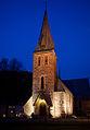 Årstad kirke Bergen at night.jpg
