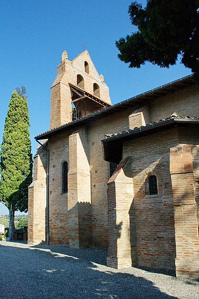 Église Saint-André de Pompertuzat - vue du sud-est