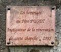 Église Saint-Véran de Chazey (décembre 2019), hommage au Père Puget.jpg
