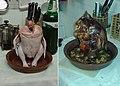 Κοτόπουλο σε γιουβέτσι πουλερικών πριν & μετά το ψήσιμο.jpg