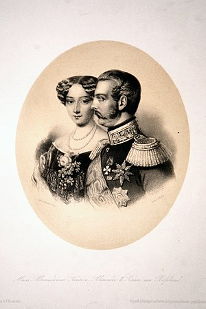 Maria Alexandrovna (Marie of Hesse) - Alexander II and Maria Alexandrovna. Engraving.