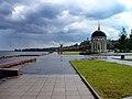 Июльский дождь на Онежской набережной города Петрозаводска. Вид на ротонду..JPG
