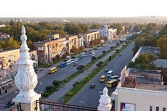 Zaporizhia - Image: Над проспектом Металургів