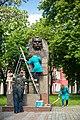 Пам'ятник Кропивницькому чепурять до свята.jpg