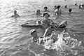 СССР, 1980, Алушта, Крым, Центральный пляж, море, Crimea, USSR.jpg