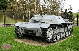 Sturmgeschütz - An example of a very early version of the Sturmgeschütz (StuG III Ausf.B) at the Museum of the Great Patriotic War in Moscow