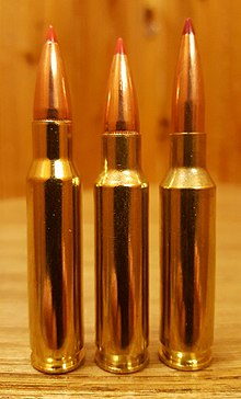 .30 TC (center) compared to .308 Winchester (left) and 6.5mm Creedmoor (right)