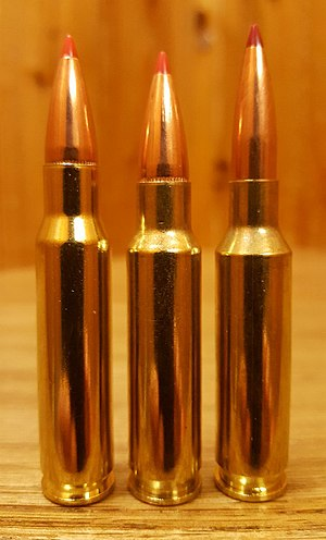 .30 TC - .30 TC (center) compared to .308 Winchester (left) and 6.5mm Creedmoor (right)